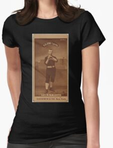 Benjamin K Edwards Collection J Ryan Chicago White Stockings baseball card portrait 002 Womens Fitted T-Shirt