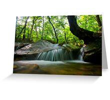 Korean waterfall in Seoraksan Greeting Card