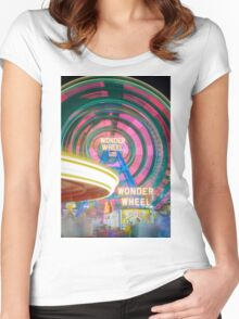 Wonder Wheel Women's Fitted Scoop T-Shirt