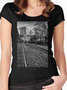 Abandon Railway Dumbo Women's Fitted Scoop T-Shirt