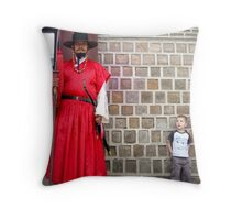 Scary palace guard Throw Pillow
