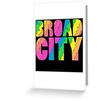Broad City TV Series Logo Greeting Card