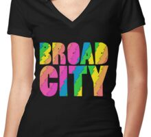 Broad City TV Series Logo Women's Fitted V-Neck T-Shirt