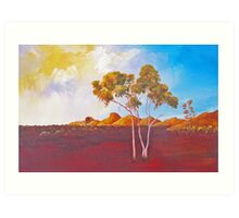 Red Centre Dawn Art Print