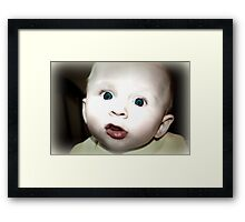 A Wee Surprised Framed Print