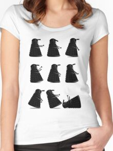 Ministry of Dalek Silly Walks Women's Fitted Scoop T-Shirt