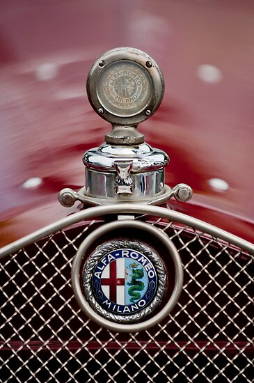 1931 Alpha Romeo Hood Ornament by Jill Reger