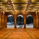Bethesda Arcade Snow by Randy  LeMoine