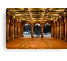 Bethesda Arcade Snow Canvas Print