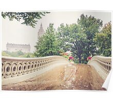 Rainy On Bow Bridge Poster