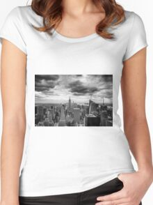 Stormy Sunset Women's Fitted Scoop T-Shirt
