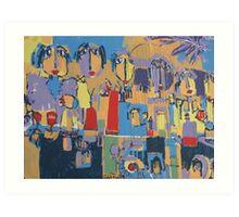 marocan art de rue Art Print