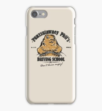 Punxsutawney Phil's Driving School iPhone Case/Skin
