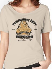 Punxsutawney Phil's Driving School Women's Relaxed Fit T-Shirt
