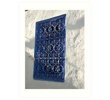 open the Blue window Art Print