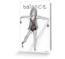 Balance © Vicki Ferrari Greeting Card