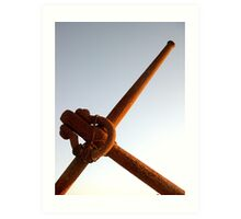 anchor in the sky  Art Print