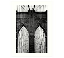 Brooklyn Bridge Profile Art Print