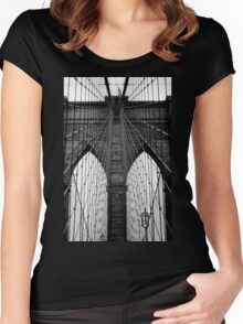 Brooklyn Bridge Profile Women's Fitted Scoop T-Shirt