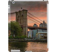 Sunset Over Brooklyn Bridge iPad Case/Skin