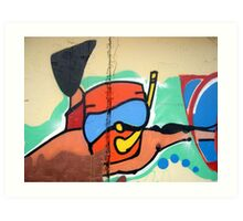 scuba wall Art Print