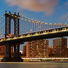 Manhattan Bridge by Randy  LeMoine