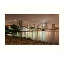 Brooklyn Bridge at Dusk Art Print
