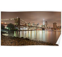 Brooklyn Bridge at Dusk Poster