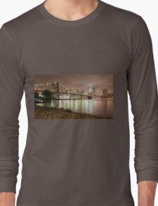 Brooklyn Bridge at Dusk Long Sleeve T-Shirt