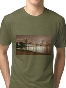 Brooklyn Bridge at Dusk Tri-blend T-Shirt