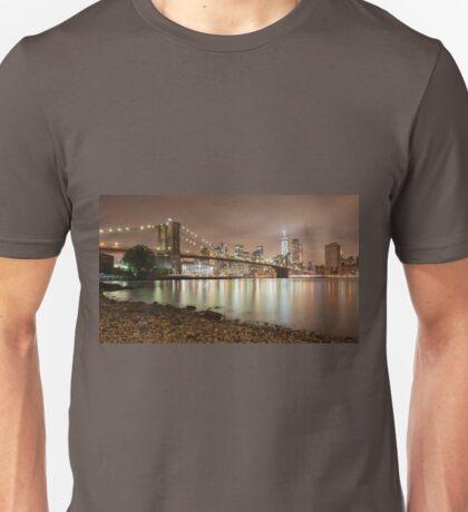 Brooklyn Bridge at Dusk Unisex T-Shirt