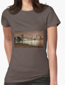 Brooklyn Bridge at Dusk Womens Fitted T-Shirt