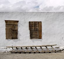 Boarded up, with a ladder by Marjolein Katsma