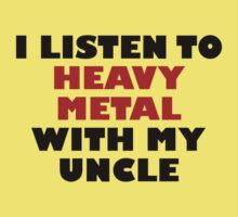 Heavy Metal With My Uncle Baby Tee