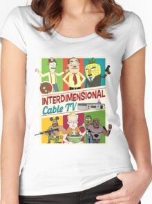 Interdimensional Cable TV Women's Fitted Scoop T-Shirt