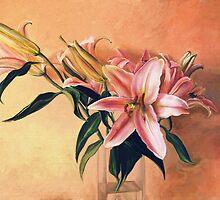 Classic Still Life Flowers by Przemysław Bródka