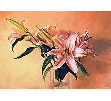 Classic Still Life Flowers Photographic Print