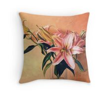 Classic Still Life Flowers Throw Pillow