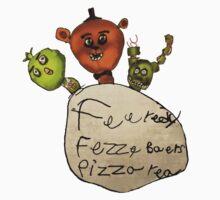 Feeredy Fezze Baers Pizza rea One Piece - Long Sleeve