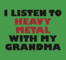 Heavy Metal With My Grandma One Piece - Short Sleeve