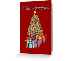 Decorated Christmas Tree Greeting Card