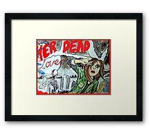 He Dead Lover Haunts Her Framed Print