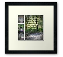 Path of Life Framed Print