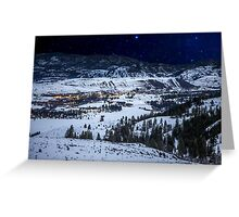 Starry Night Over Winthrop and the Methow Valley Greeting Card