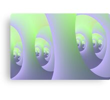 Labyrinth in Lilac and Green Canvas Print