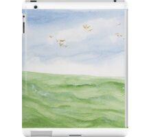 Birds over the ocean. iPad Case/Skin