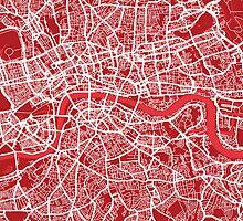 London Map Street Art by Michael Tompsett