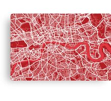 London Map Street Art Canvas Print