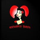 Retro queen rockabilly iPhone case by patjila