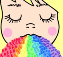 Rainbow Barf Sticker